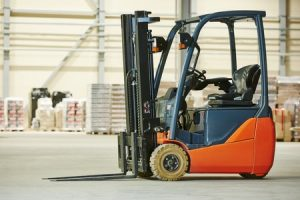 Storing a forklift in the winter