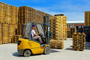 Forklift for construction projects